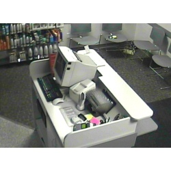 Indoor Dome Security Cameras provide great quality footage of restaurant cash registers.